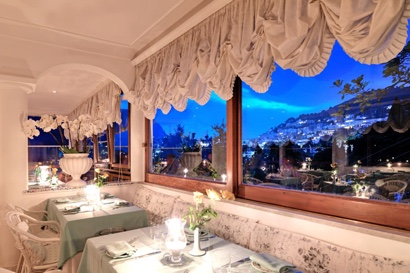 Restaurant with a view on Capri