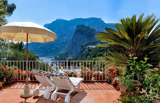 Capri hotel with sea view