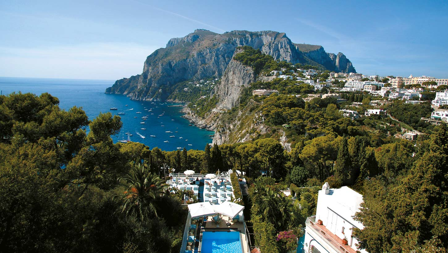 Hotel villa brunella capri hotel with pool and sea view for Villa capri