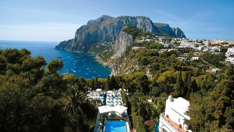 Hotel villa brunella capri hotel with pool and sea view for Capri villa